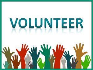 volunteer reaching hands