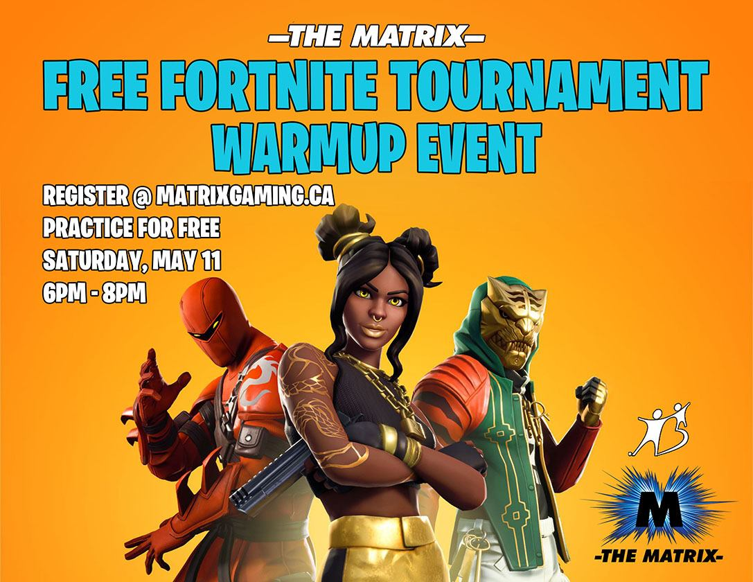 Free Fortnite Tournament Warmup Event Logo