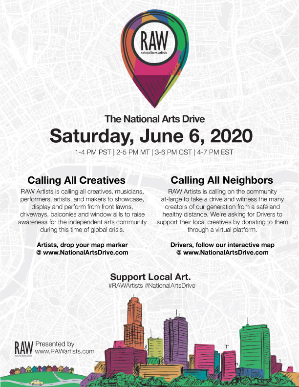 RAW Artists Canada presents the National Arts Drive Logo